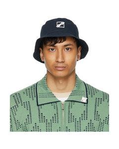 海军蓝徽标渔夫帽