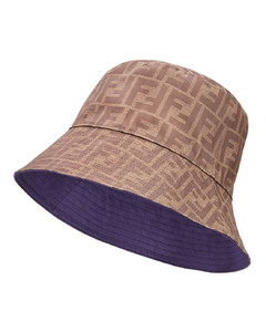 reversible FF motif bucket hat