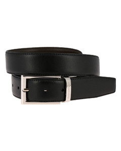 Classic belt in real reversible leather