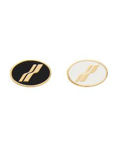 金色Oval Logo胸针套装