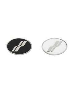 银色Oval Logo胸针套装