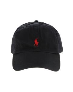 Logo baseball cap in black
