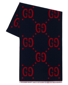 Gg Jacquard Wool & Silk Scarf