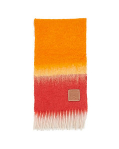 Mohair stripe scarf