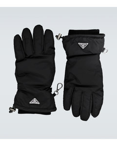Nylon gloves with logo