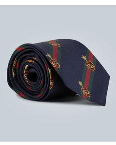 Web徽章真丝领带