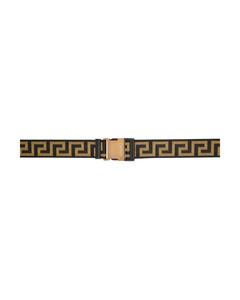 黑色&金色Greca编织腰带