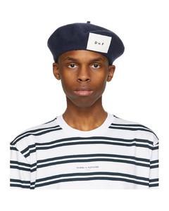 SSENSE发售海军蓝贴饰美利奴羊毛贝雷帽
