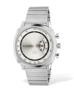 Lg40 Gucci Grip Stainless Steel Watch