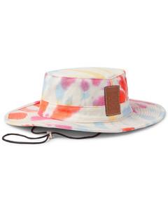 Paula's Ibiza Logo-Detailed Tie-Dyed Canvas Bucket Hat