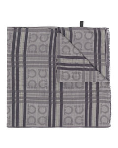 蓝色Classic Cut格纹真丝领带