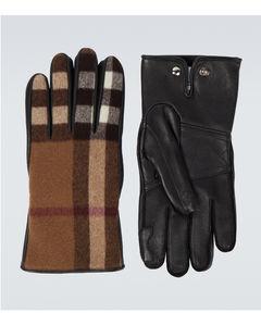 皮革羊毛手套