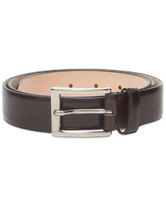 silver tone Grip leather watch