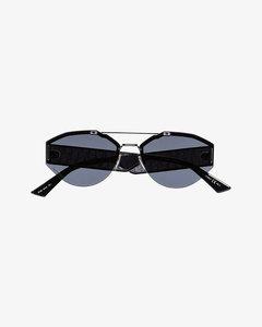 黑色C2H4联名铆钉链带做旧手套