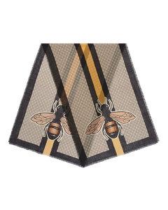 Bee Web印花羊毛围巾