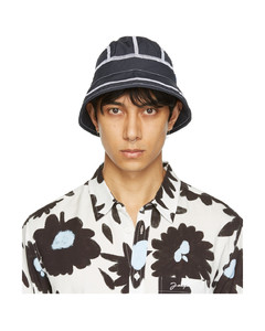 Gg Canvas Baseball Hat In Black & Black in Black