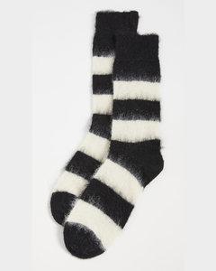 男士黑色冬日腊肠犬袜子