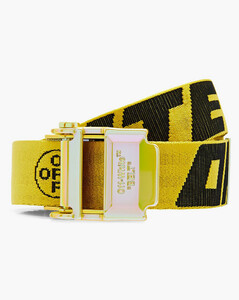 Glossy Double T-Buckle leather belt