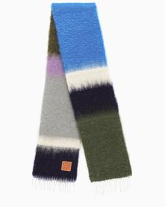 Grey/Purple colour-block scarf