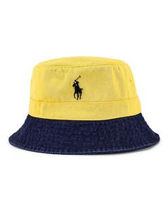 Polo Ralph Lauren Bucket Hat in Navy,Yellow
