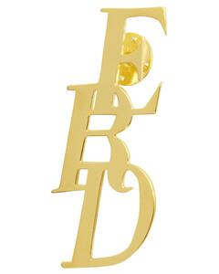 金色徽标饰针
