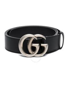 Men's Double G Buckle Leather Belt
