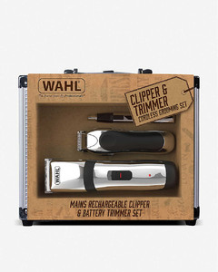 Clipper and trimmer cordless grooming set