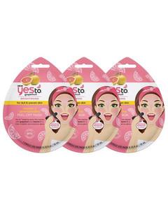 Grapefruit Vitamin C Glow-Boosting Single Use Peel-Off Mask (Pack of 3)