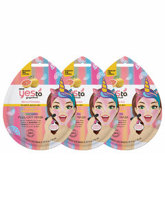 Grapefruit Vitamin C Glow-Boosting Unicorn Single Use Peel-Off Mask (Pack of 3)