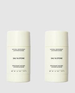 Natural Deodorant Double Pack - Lavender + Sage