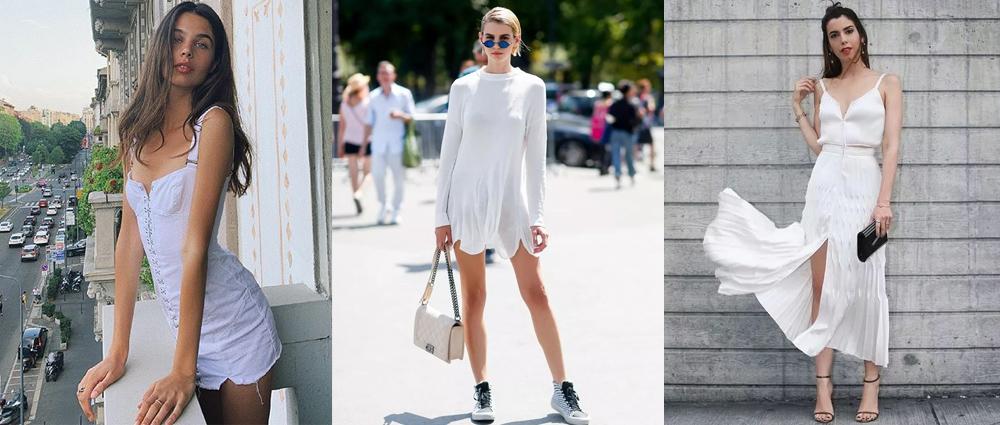 夏日极简主义:清新白裙